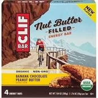 Clif Nut Butter Filled Energy Bar, Banana Chocolate Peanut Butter, 4 Little Bars (Pack of 2)