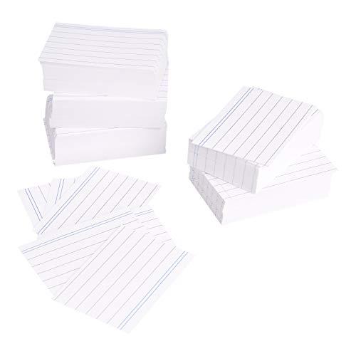 AmazonBasics - Fichas de cartulina con rayas, tamaño A8, Blanco (Paquete de 100)