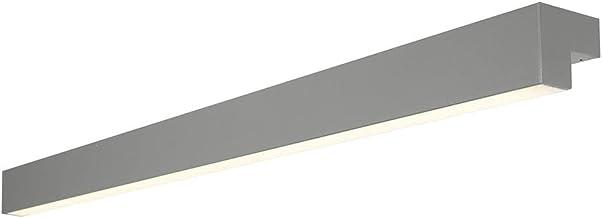 Badkamerlamp, badkamerlamp, LED-badkamerlamp, grijs, 1200 mm, L-LINE IP44 aluminium, 1 lamp