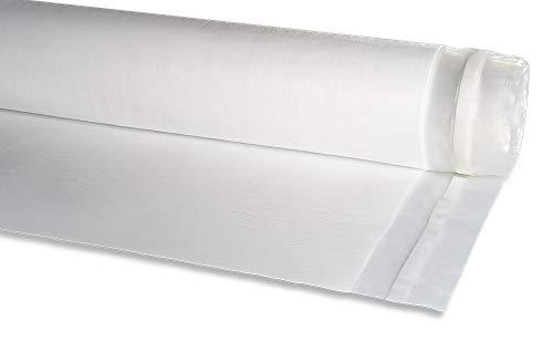 Isolmant Parquet Film | Materassino isolante sottopavimento in polietilene Isolmant ad alta densità rivestito con film PE con funzione di barriera vapore per pavimenti in laminato e parquet, Bianco