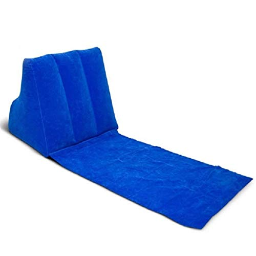 Alfombra de playa con almohada inflable, portátil, para playa, tumbona, cama de aire, impermeable, para camping, picnic