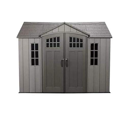 Storage Extra Large Horizontal Outdoor Lifetime's Shed Stow-Away Space 10 x 8ft In Polyethylene Construction Heavy Duty In Low Maintenance With Floor For Utility And Gardening Tool On Your Backyard