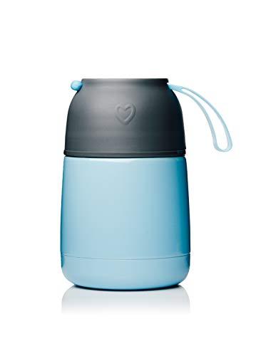 BOHORIA® Thermobehälter Lunchbox | Hochwertiger Isolierbehälter | Edelstahl | Thermo Gefäß für Babynahrung | Premium Speisebehälter | Warmhaltebox (Blau)