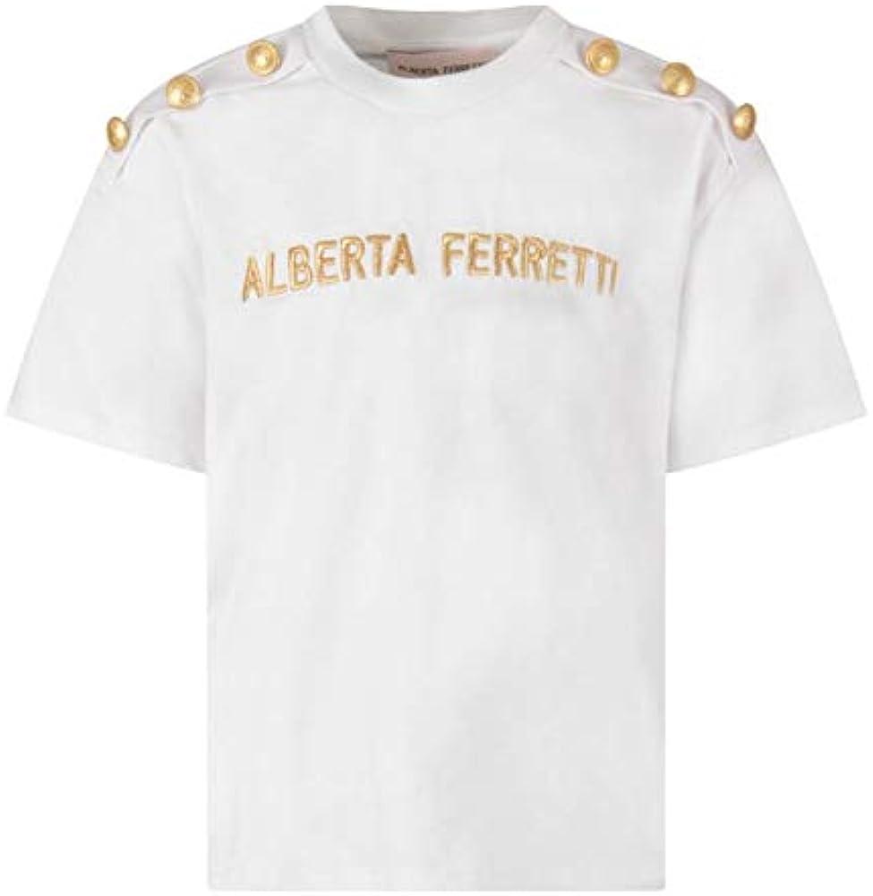 Alberta ferretti junior, t-shirt,maglietta maniche corte per bambina dai 10 ai 14 anni,100% cotone 025325110T