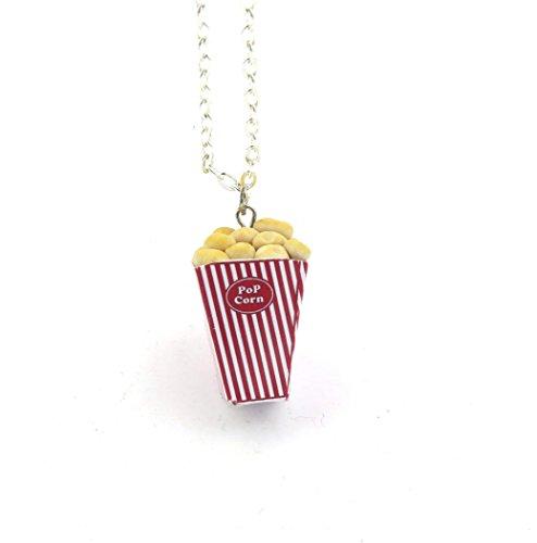 schmuck-stadt Popcorn Kette Damen Silber-Farben 60cm