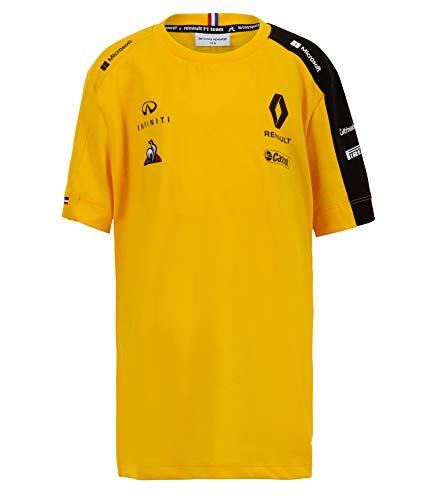 T-Shirt für Kinder, Motiv Renault F1 Team 2019, 100 % Baumwolle, Alter 5–14 Jahre, Gelb, gelb, Children - 9-10 Years