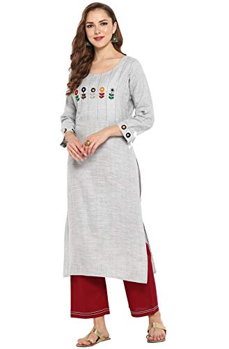 Janasya Indian Tunic Tops Cotton Ku…