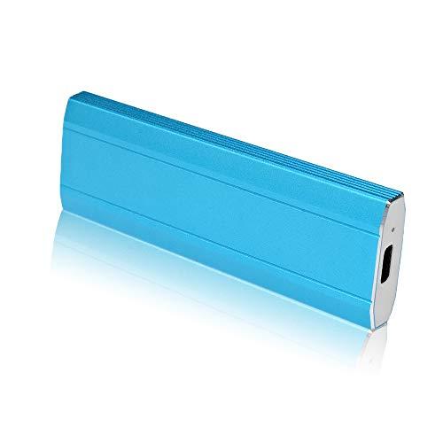 Externe Festplatte, tragbar, 1 TB, 2 TB, externe Festplatte ultradünn, kompatibel mit PC, Mac, Desktop-Computer, Notebook (2 TB, Blue)
