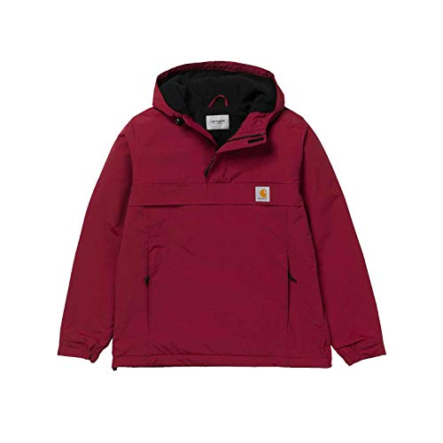 Carhartt WIP Herren Winter Supplex-Nylon Nimbus Pullover mit Fleecefutter Rot 9017 L