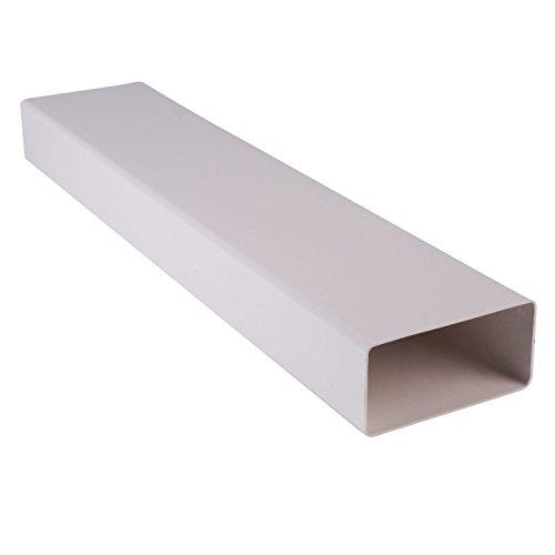 Bielmeier V650111 Vierkantrohr System 100 Standard weiß, 100 cm Länge, ohne Muffe