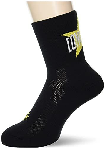 [コンバース] 靴下 バスケ 日本製 クッションソックス ミドル丈 CB102055 ブラック×イエロー 2527