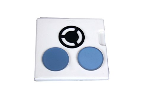 Radical Set of Blue & Frosted Filter w Darkfield Stop for Biology Compound Microscope