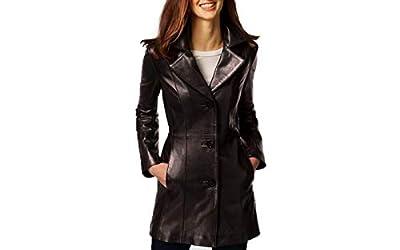 Anne Klein Women's Walker Leather Coat