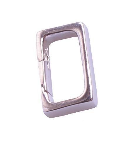 Anhänger Schlaufe Öse Collierschlaufe Clip Anhängerhalter Kettenanhänger quadratisch Silber Farbe