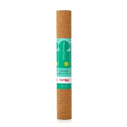 "Con-Tact Brand Natural Cork Self-Adhesive Shelf Liner, 18"" x 4'"