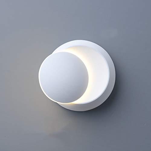 Klighten 360 - Lámpara de pared con rotación ajustable, moderna lámpara de pared creativa, 5 W, IP 20, iluminación decorativa, carcasa blanca