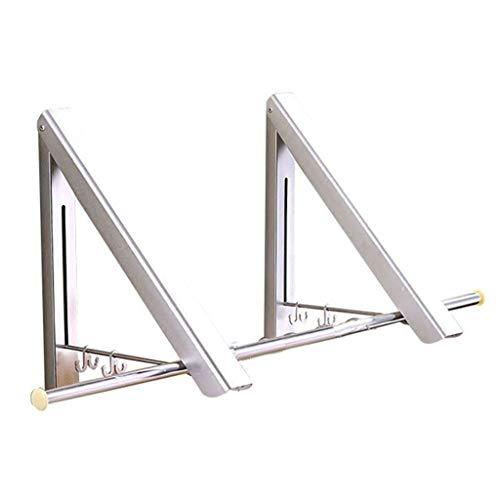 Tendedero Balcon Plegado Multifuncional Ropa Plegable Tenderete Ropa Vertical (Color : Blanco,...