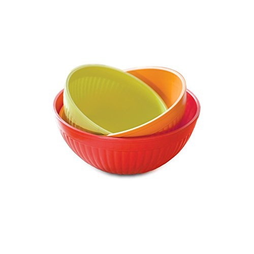 Nordic Ware Microwave Prep/Serve Bowl Set, 3 Piece, Fiesta Colors
