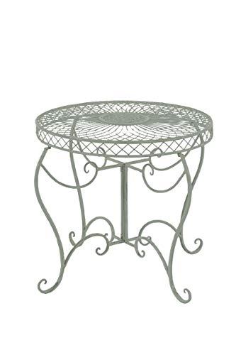 CLP Table Ronde de Jardin Sheela- Table de Jardin Design en Fer Forgé - Table de Terrasse Style Antique avec Diamètre Ø 76 cm - Meuble de Jard, Couleurs:Antique-Vert