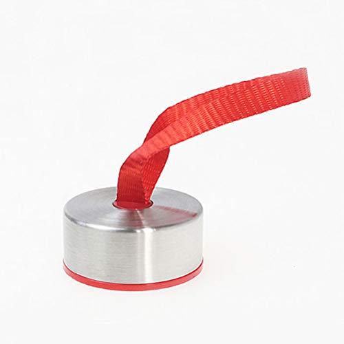 GAOJIAN Tapa Especial para Vaso de Agua Universal Tapa de Botella de Vidrio Cubierta de Copa de Aislamiento a Prueba de Fugas con Anillo de Sellado de Cuerda,Redondo,5 Piezas Bottle Cap Red 5pcs