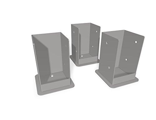 Vita VA80207 Pergola Bolt Kit 3 Pack Surface Mount Bracket, Steel