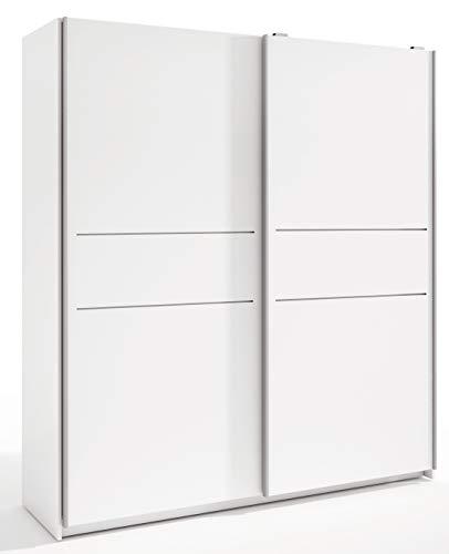 Miroytengo Armario Grande Color Blanco 2 Puertas correderas Detalle Decorativo Central 201x182x54 cm