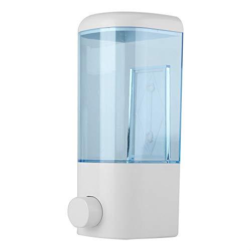 Fdit Soap Dispenser Wall Mounted Hanging Plastic Leak Proof Bottle Liquid Shampoo Lotion Manual Dispenser Bathroom Hotel 400ml
