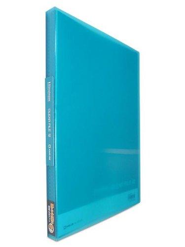 キングジム シンプリーズ クリアーファイル(透明) 固定式40ポケット 青