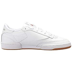 Reebok Women's Club C 85 Running Shoe, White/Light Grey/Gum, 9 M US