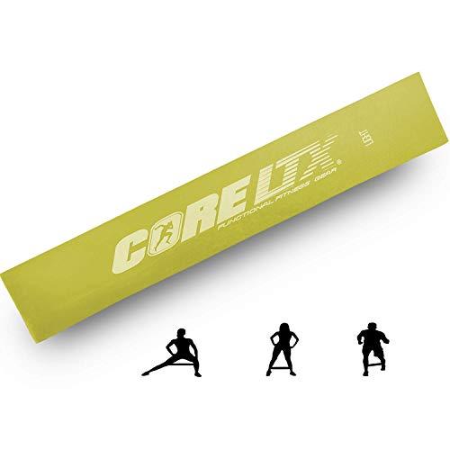CoreLTX ® Fitnessband einzeln oder im Set mit Tasche (D - Gelb (Das Leichte))
