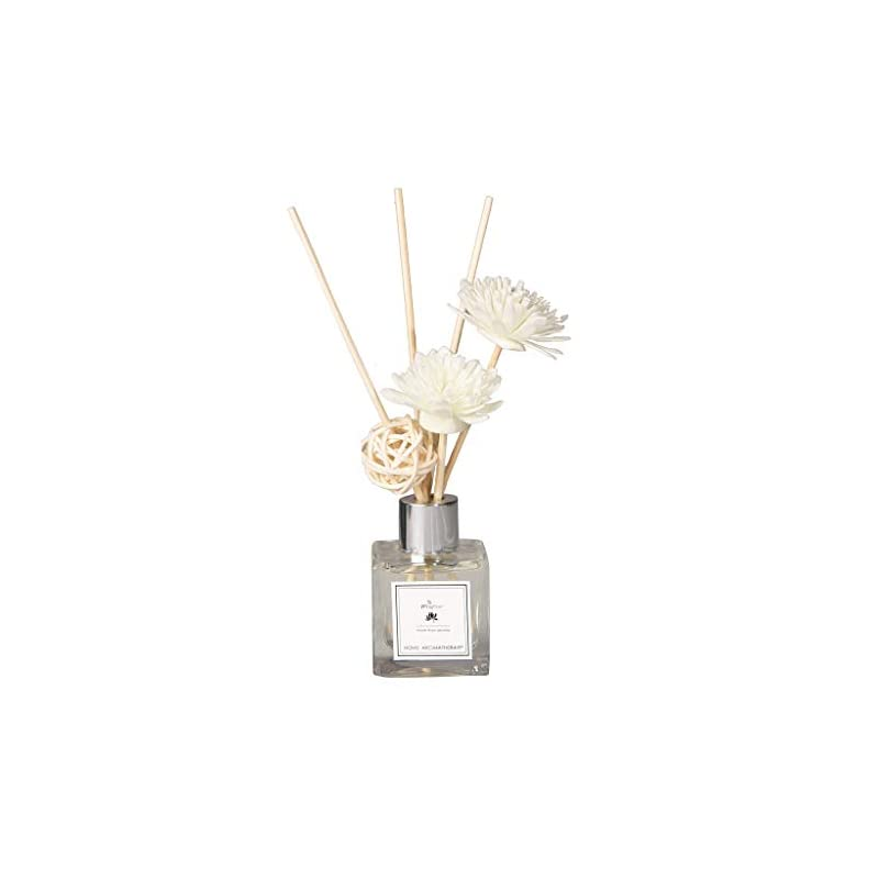 silk flower arrangements ranoff reed oil rosemary diffusers with natural sticks,dried rattan flower glass bottle and scented oil 50ml decoration home decoration bar cafe artificial flower fake flower (freesia)