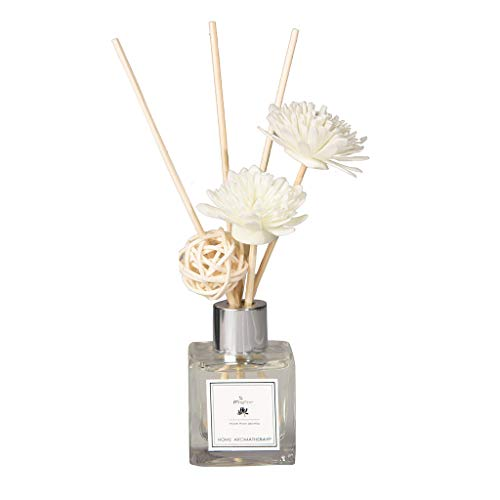 jieGorge Reed Oil Diffusers with Natural Sticks, Glass Bottle and Scented Oil 50ML, Home Decor, for Christmas Day (B)