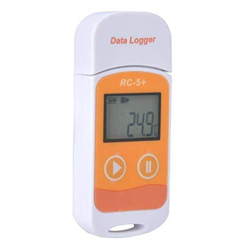 RC-5 + Temperaturdatenlogger IP67 wasserdicht staubdicht Temperaturdatenrekorder Temperaturdatenlogger Plug & Play Hochpräzise für den Transport von Lebensmitteln