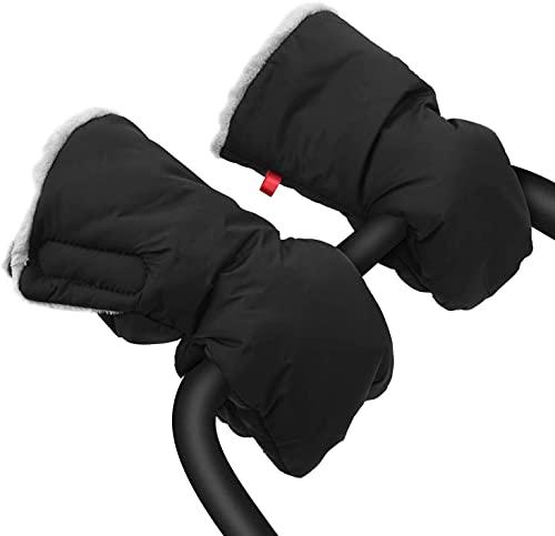 Saco de mano extra grueso para cochecito de bebé, impermeable, anticongelante, funda de mano, guantes para cochecito de bebé de invierno para padres y cuidadores