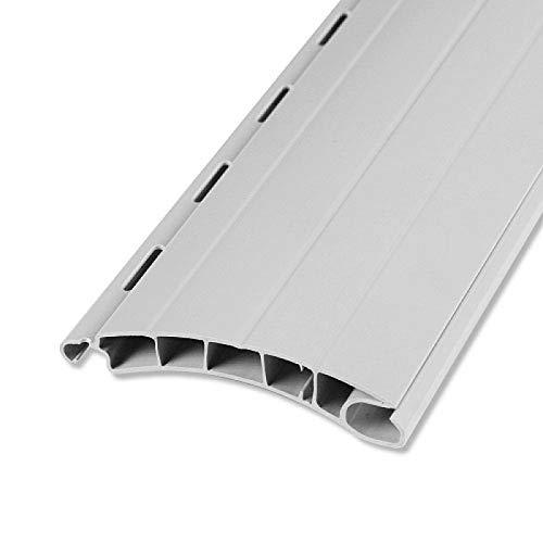 Rolladenstab Maxi 14 x 55 grau, weiß oder beige mit Lichtschlitzen 5 Stück 100 cm ROLATEC Set Rolladen Lamellen (grau)