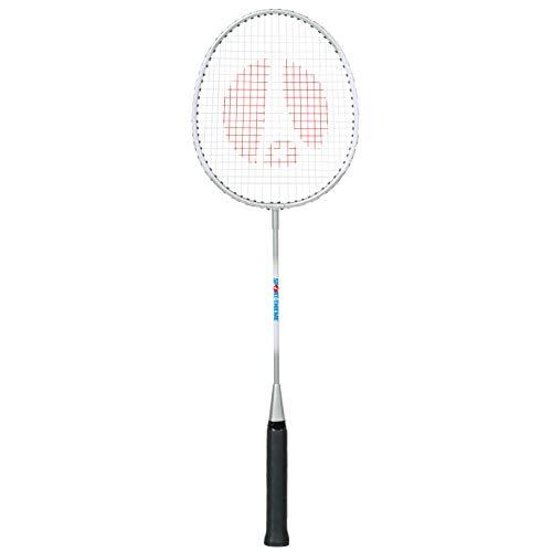 Sport-Thieme Badmintonschläger School | Badminton-Racket für Schulsport, Anfänger u. Kinder | Gehärteter Stahl | Hochwertige Besaitung | nur 120 g | Länge 66 cm | Markenqualität