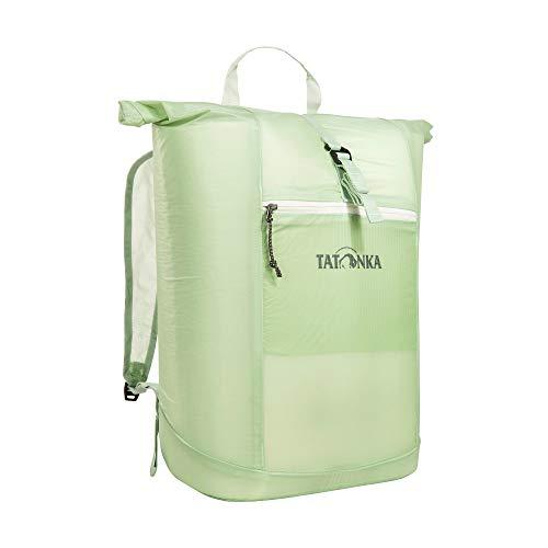 Daypack Tatonka SQZY Rolltop 25l - Federleichter, faltbarer Rucksack mit Rollverschluss, extra Packbeutel und 25 Liter Volumen - Klein verpackbar - Damen und Herren - hellgrün