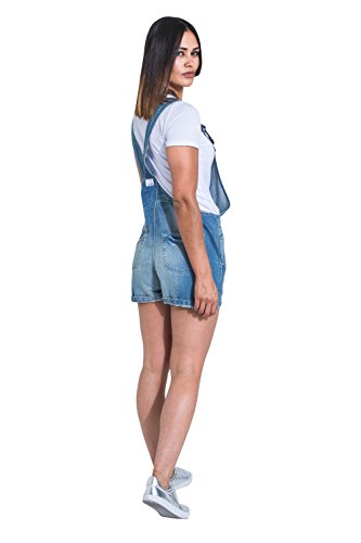 USKEES Damen Latzshorts - Aged Blue Kurze Overalls XENYAAGED-16
