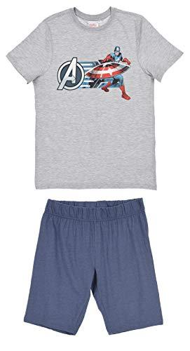 Avengers Herren Kurz Pyjama Schlafanzug