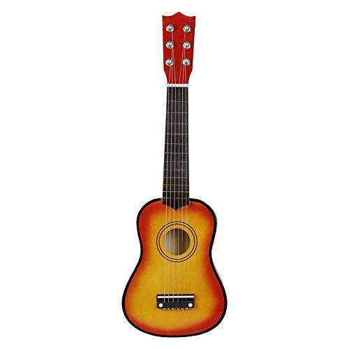 SISHUINIANHUA Mini Guitarra acústica de 21 Pulgadas Ukulele Guitarra clásica Musical Instrumental Instructor de Madera Principiante Música Amantes Niños Regalo,4