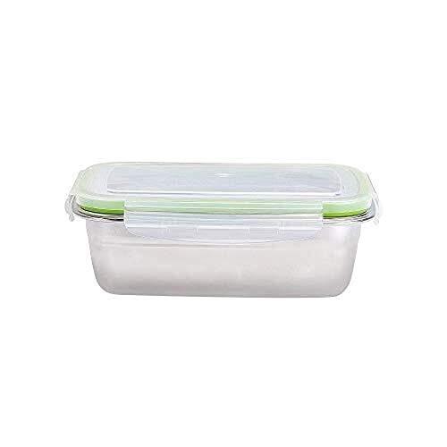 Fiambrera Acero inoxidable caja de almuerzo;Caja de almuerzo;Oficinista, almuerzo Estudiante caja;Caja de almacenamiento frigorífico;Casa;Rectángulo de la fruta;Box Lunch rectangular;Cómodo de llevar.