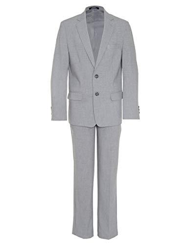 Kgurtagh Baby Boy Formal Suit Outfit, One-Piece Romper+Vest+Beret+Bowtie (0-2T)