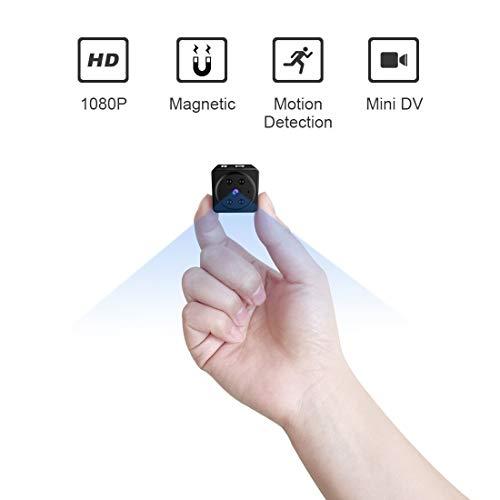 Spy cámara Oculta Mini Cuerpo cámara 1080P HD portátil de Seguridad de la batería pequeña cámaras de vigilancia de la visión Nocturna encubierta Tiny Nanny CAM ( Color : No Memory Card )