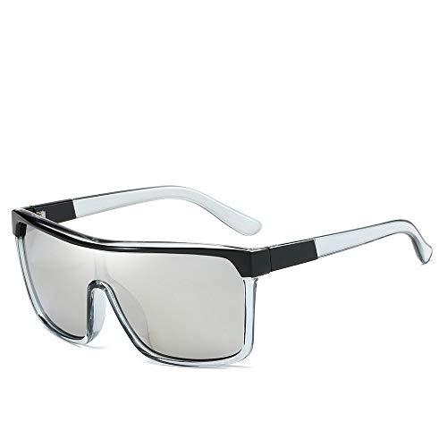 YOULIER Gafas de sol de una sola pieza lentes gafas de sol Beach Riders Trend Gafas de sol hombres y mujeres Gafas personalizadas