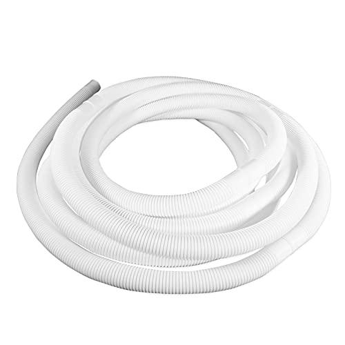 well2wellness® Universal Poolschlauch Schwimmbadschlauch 38mm weiß - 6 Meter