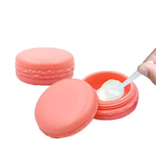 hanbby Tarros Cosmeticos Botes Viaje Avion Botella de emulsión de loción portátil Bálsamo de Labio de contenedores Maquillaje ollas Pink,20pcs