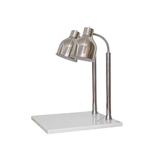 PEDFI warmmelamp kostwarmers tafellamp food verwarmingslamp-eettafel, salontafel inclusief witte marmeren sokkel