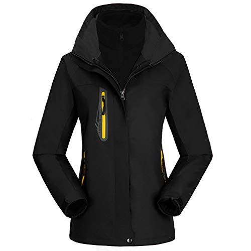 Warm Room outdoor sneeuwjas voor dames, 3-in-1 jas, fleece ski-jack, winter waterdicht, softshell volledige rits, windproof coat zip zakken