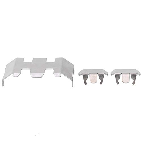VGEBY Skid Plate, Armor Skid Plate Set Center Front Rear Guards Plates Stainless Steel for Axial SCX24 90081