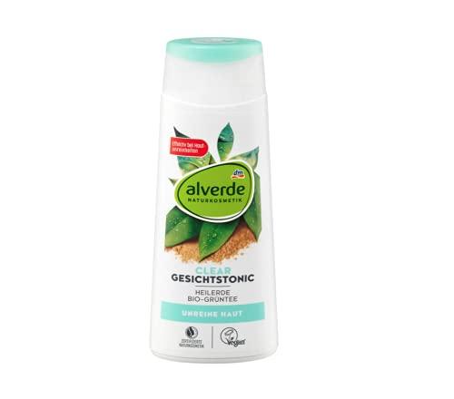 Clear Gesichtstonic Gesichtswasser | Naturkosmetik | Mit naturreiner Heilerde und Grünem-Tee-Extrakt | Wirkt porenverfeinernd | Gegen unreine Haut | 200 ml